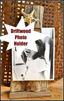 driftwood with photo