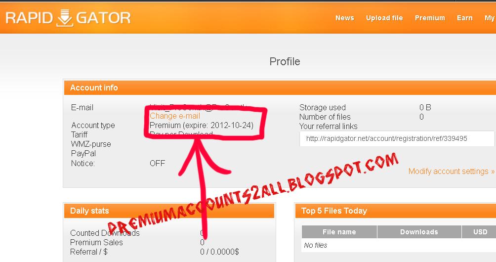 Rapidgator free accounts