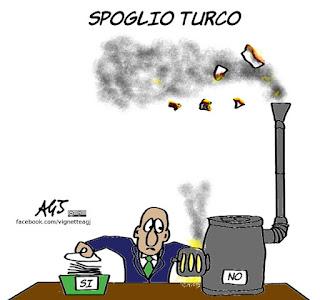 turchia, Erdogan, referendum, poteri, satira, vignetta