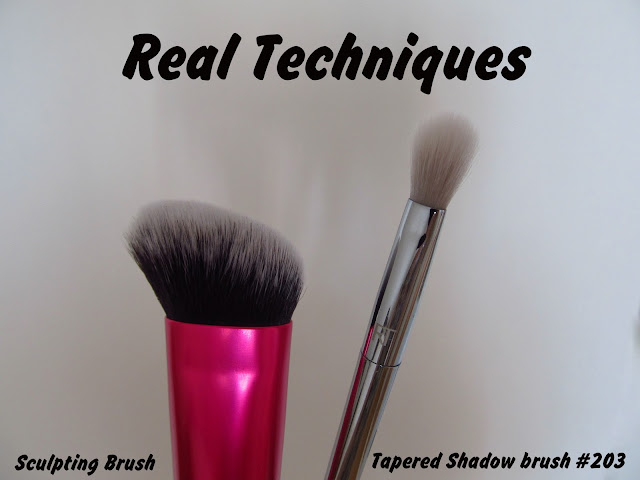 Огляд пензлів від Real Techniques: 203 Tapered Shadow та Sculpting Brush