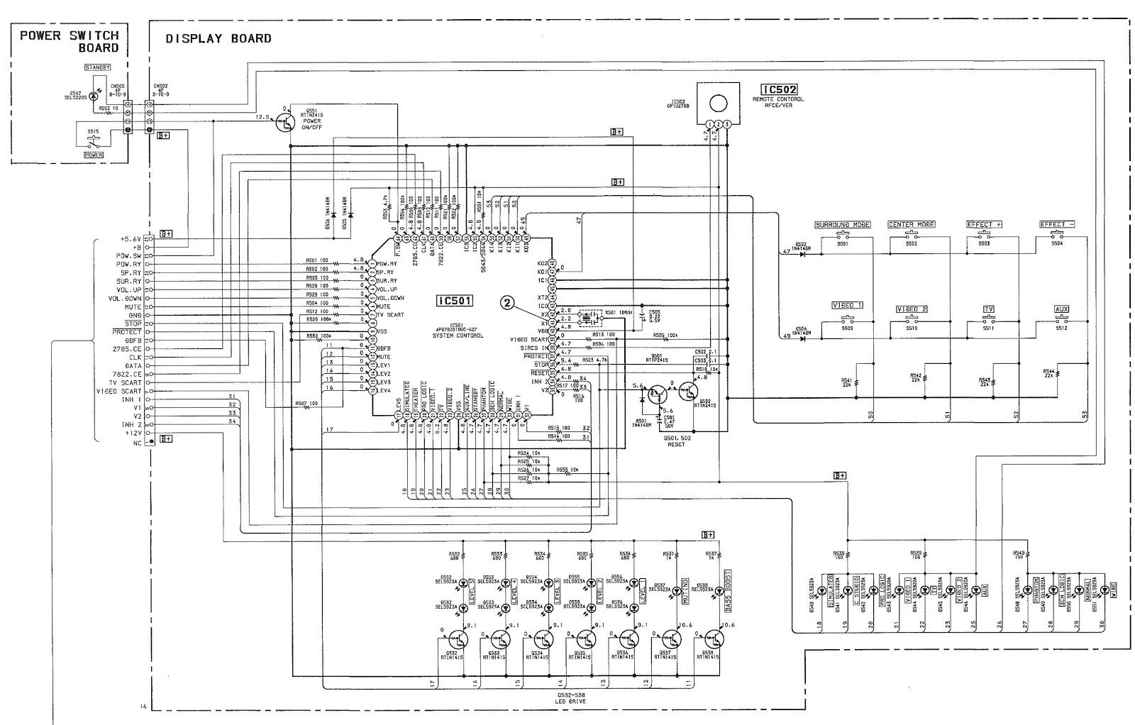Electro Help  Sony Ta Ve110 Stereo Av Amplifier  U2013 Schematic
