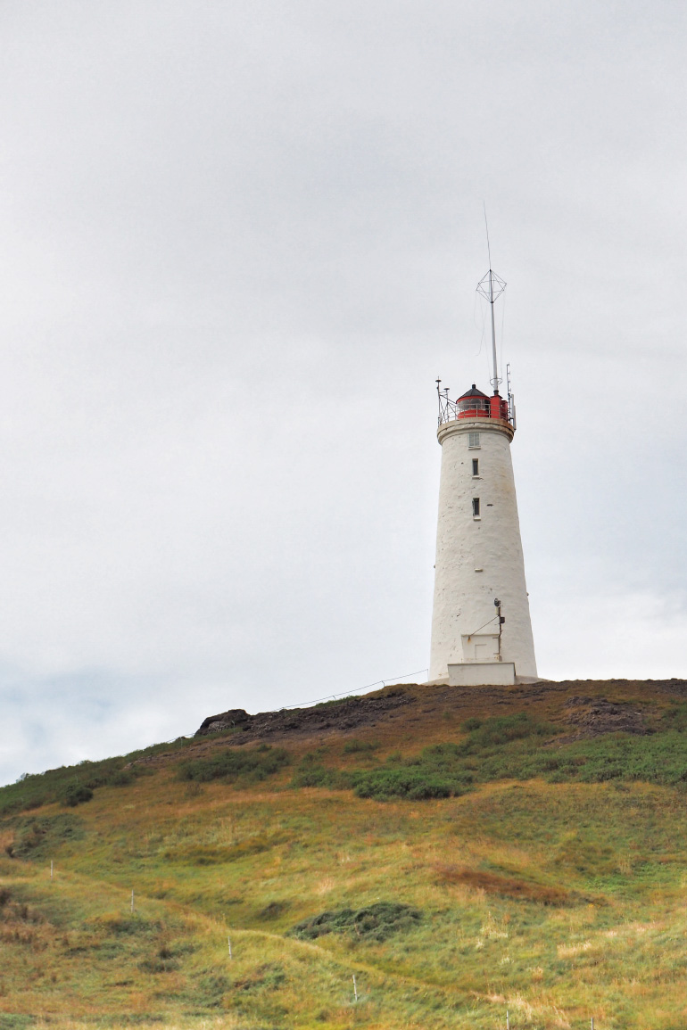 Road trip en Islande - phare près de Gunnuhver
