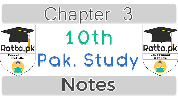 10th Pak Studies chapter 7 Notes