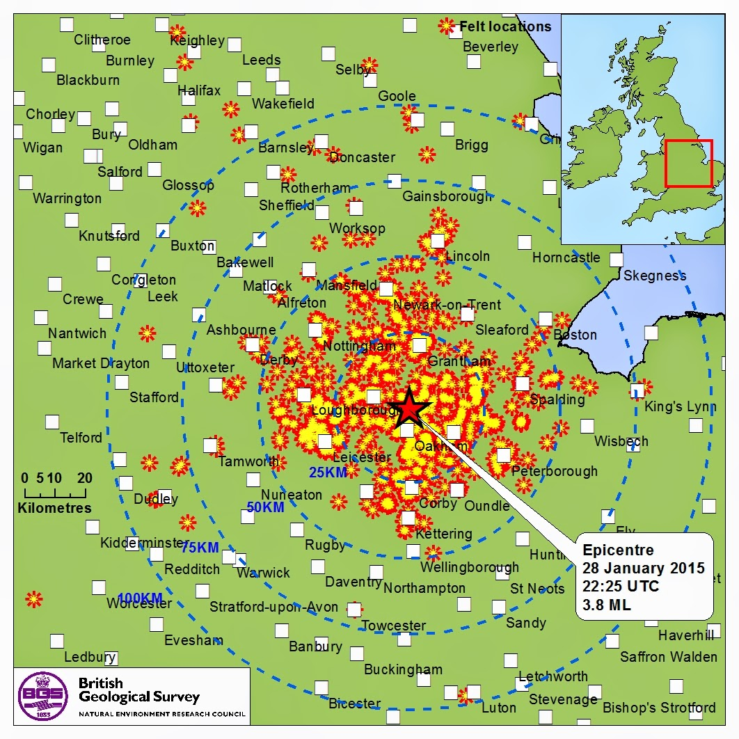 Sciency Thoughts: Magnitude 3 8 Earthquake in Rutland, England