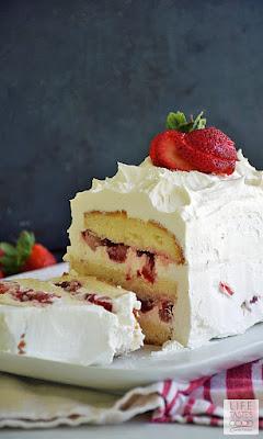 No Bake Strawberry Cake   by Life Tastes Good