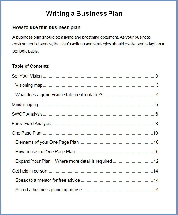Business Plans Template Howtowriteasimplebusinessplan Business Plan