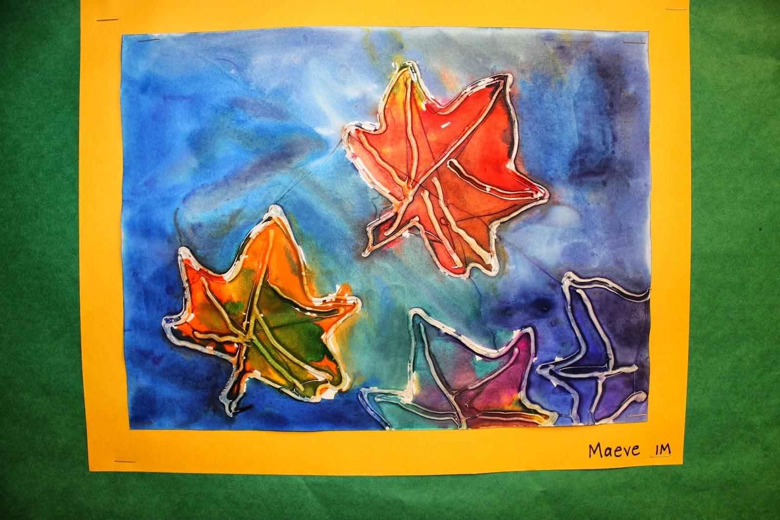 Art Rocks Grade 1 Fall Leaves