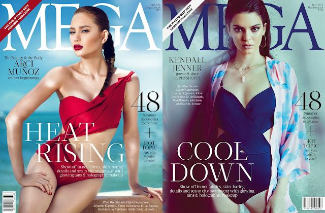Arci Muñoz Mega April 2016 Cover Girl and Kendall Jenner Mega April 2016 Cover