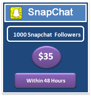 1000 snapchat followers
