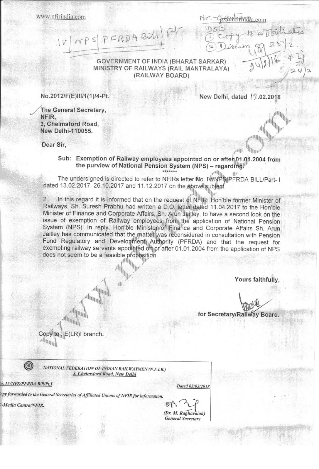 exemption-of-railway-employee-from-nps-letter