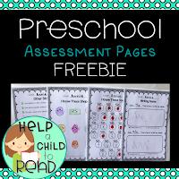 free pre-kindergarten assessment printables