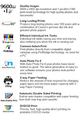 Canon Pixma iP4850 Features
