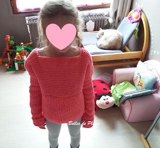 pull enfant au tricotin