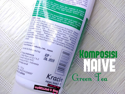 "Komposisi NAIVE ""Facial Cleansing Foam"" Green Tea"""