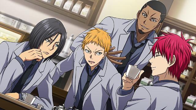 Akashi and Reo Mibuchi and Kotarō Hayama and Eikichi Nebuya
