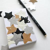 mit Strich und Faden: Notizblock Collage mit Sternen
