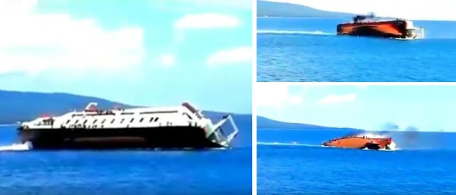 Video Detik-Detik Kapal Feri Ravelia 2 Tenggelam di Perairan Ketapang