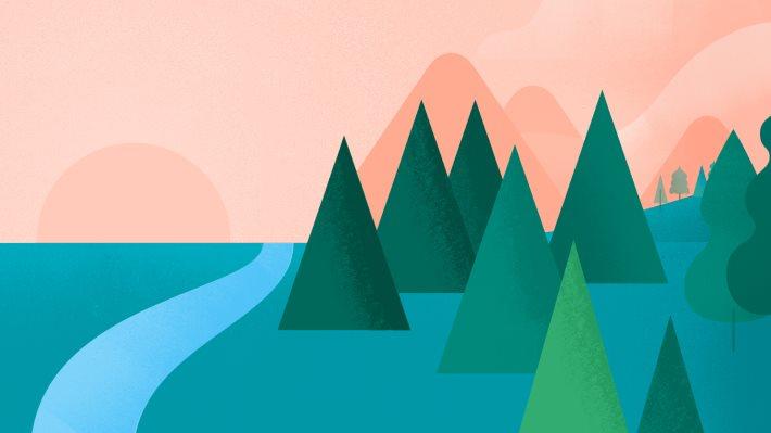 Wallpaper 2: Google I O Landscape Material Design
