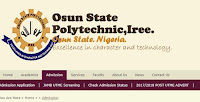 2017 OsPoly Iree Post Utme Form: Cut off Mark & Screening Now Available