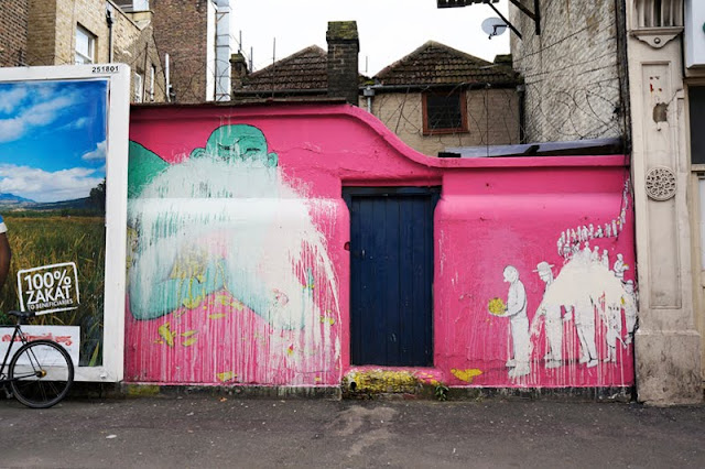 RUN aka Giacomo Bufarini's Street Art Mural in Clapton, London. Photo ©Mark Rigney