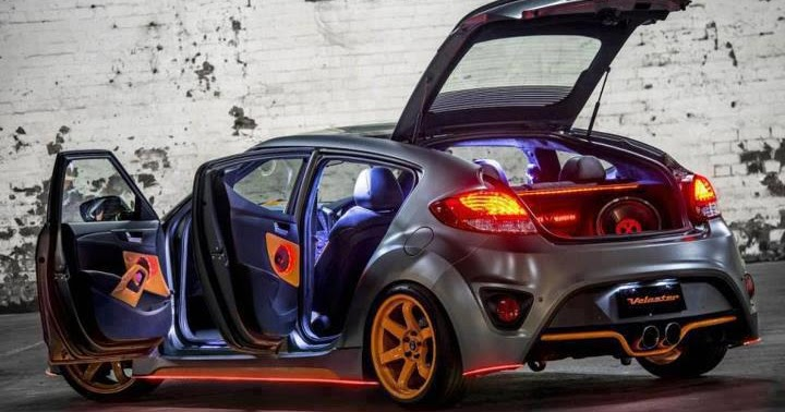 Modified Cars Modified Hyundai Veloster With Orange Rims