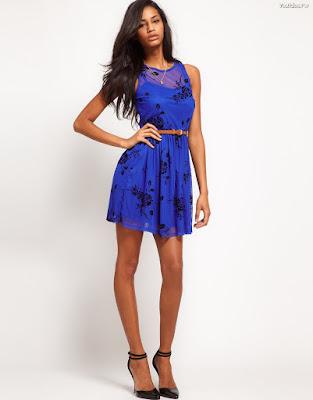 Vestidos de moda color azul