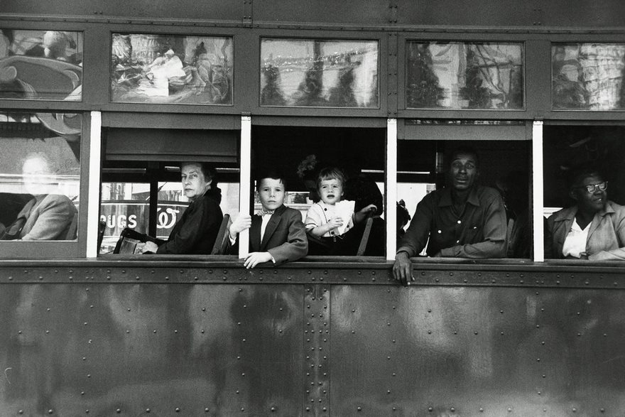 #78 Trolley To New Orleans, Robert Frank, 1955 - Top 100 Of The Most Influential Photos Of All Time