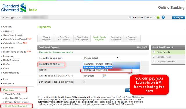 Kuch Bhi on EMI Instabuy executive payment