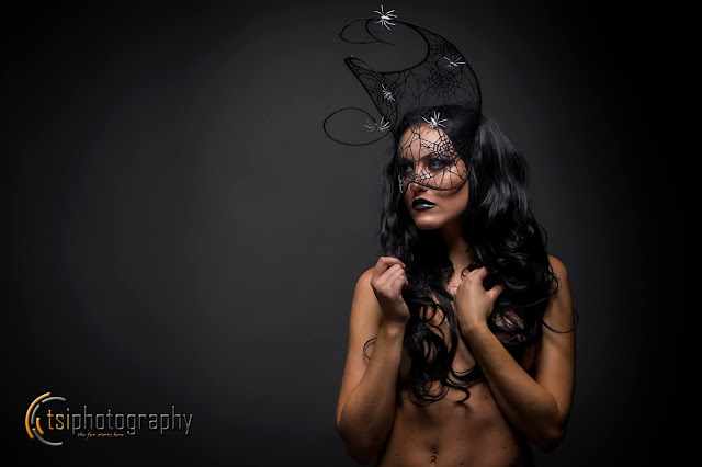 mystic magic, halloween, spider, mask, couture mask, fashion mask, masquerade, webbed, black, photo, halloween photography, modelling, studio photography,