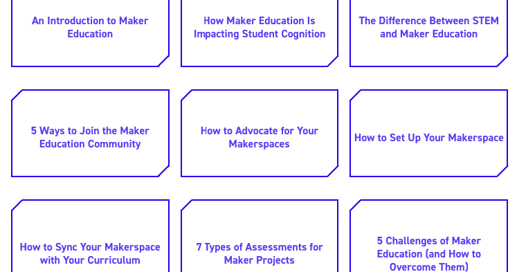 Maker Education Guide for Teachers