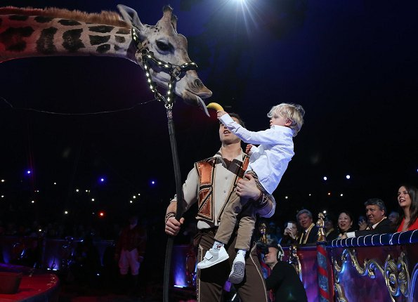 Prince Albert, Princess Stephanie, Princess Gabrielle, Crown Prince Jacques and Pauline Ducruet attended the 42nd International Circus Festival