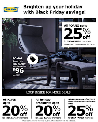 IKEA USA Black Friday Savings 23-26.11 2018