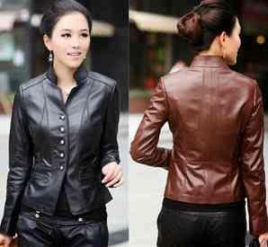 model jaket kulit yang cocok buat ke kantor buat wanita, korean style