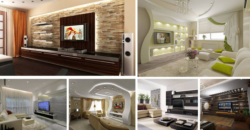 15 modern tv wall design home interior designs - Modern tv interior design ...