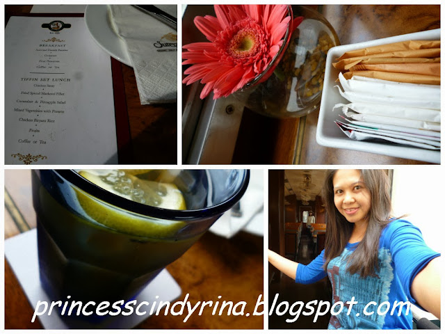 menu, sugar and tea