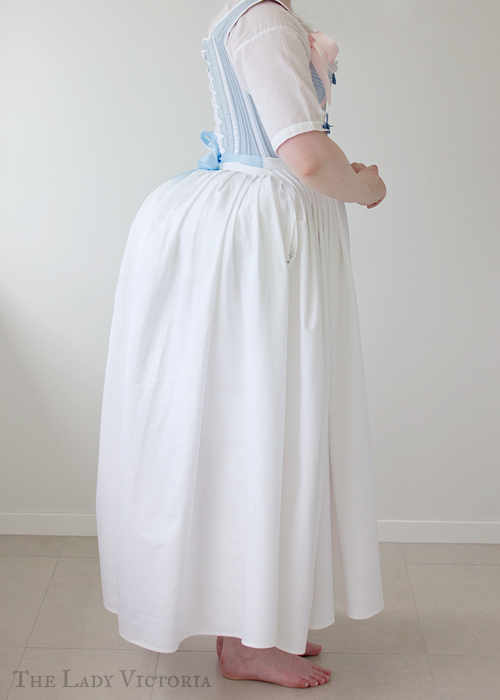 broadcloth petticoat side veiw
