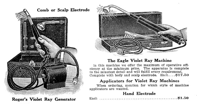 A 1919 barber's Violet Ray device from a catalog