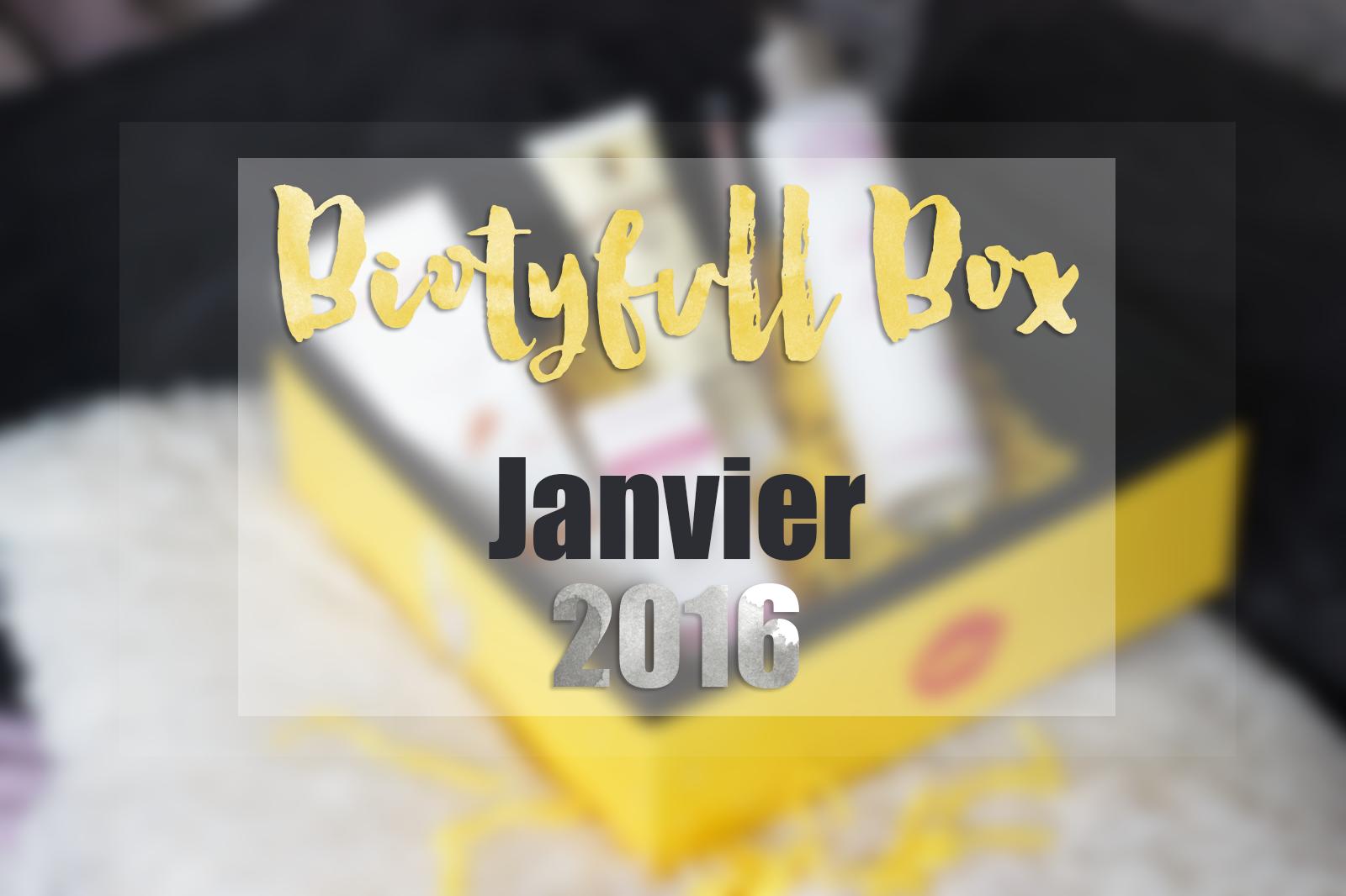 Biotyfull Box - Janvier 2016