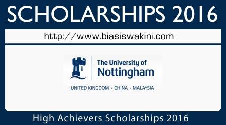 High Achievers Scholarship 2016