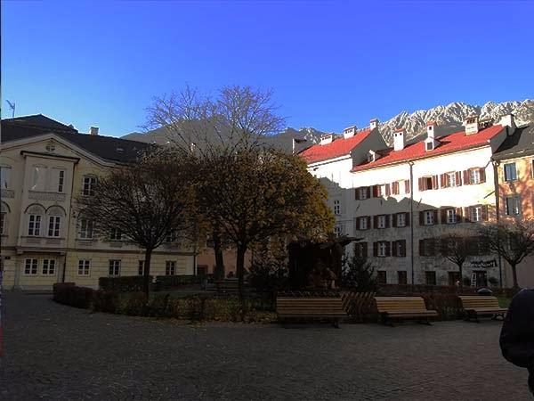 Cidade de Innsbruck, na Austria, mercado de Natal na Europa