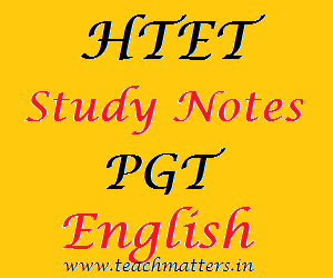 image : HTET Study Notes - PGT English @ TeachMatters