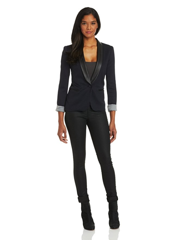 Women's black tuxedo