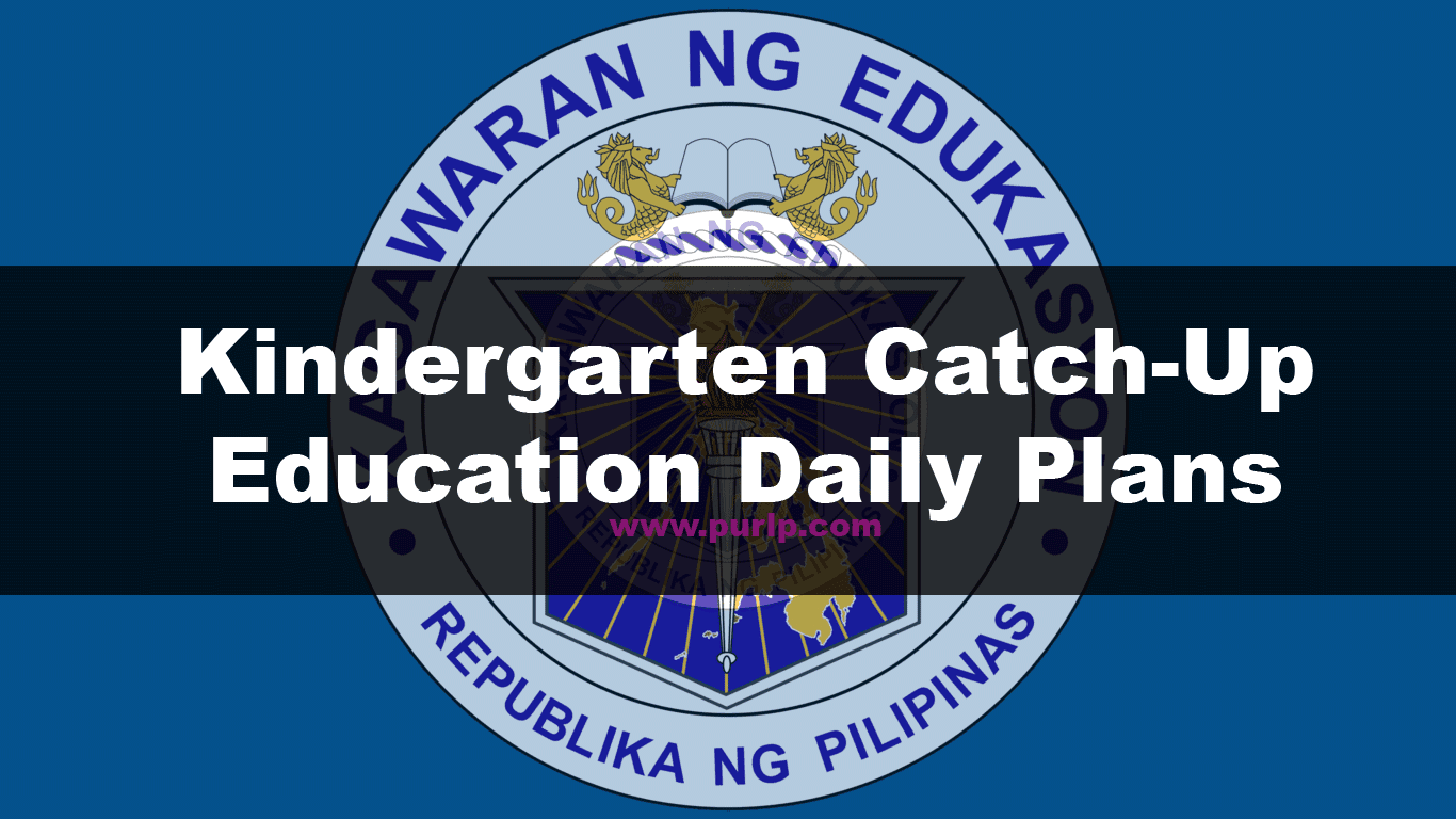 Kindergarten Catch-Up Education Daily Plans PDF
