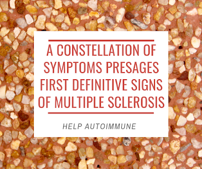 A constellation of symptoms presages first definitive signs of multiple sclerosis