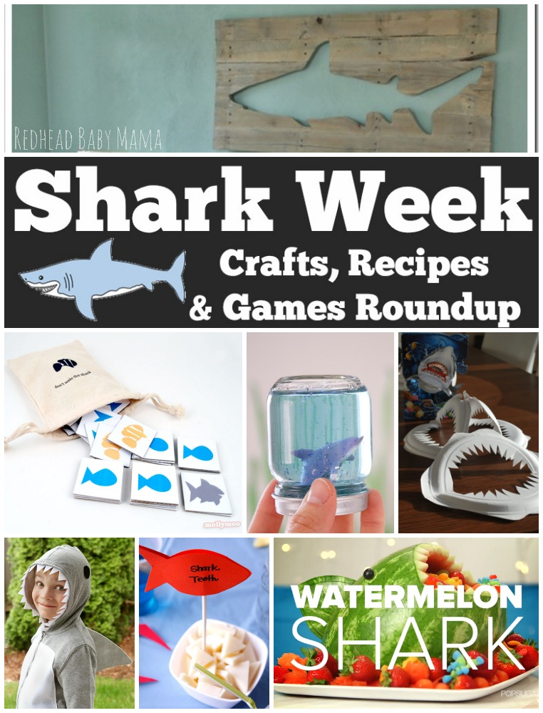 Shark Week Games, Crafts and Recipes for more fun during Discovery's summer bash. via @redheadbabymama