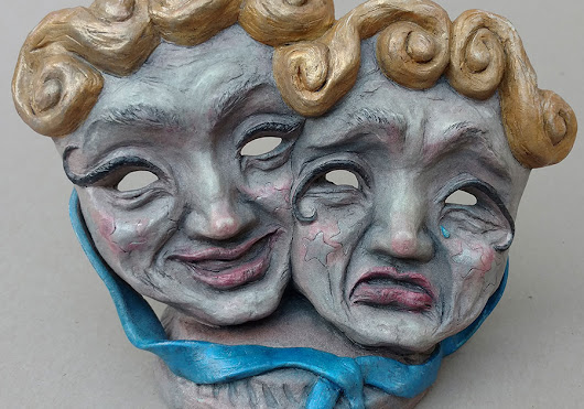 Cast Resin Sculpture: Comedy & Tragedy Masks