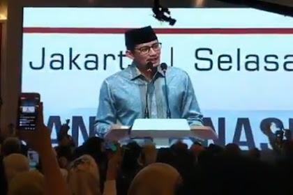 Sandiaga: Pemilu 2019 Paling Mematikan Dalam Sejarah Indonesia