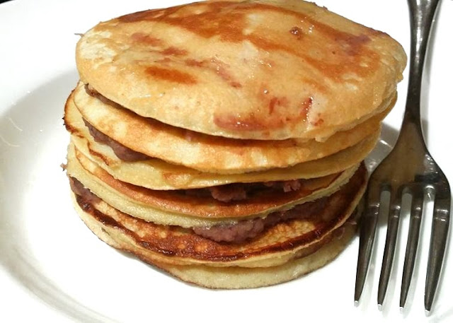 Grain Free & SCD Coconut Flour Pancakes with Red Bean Paste
