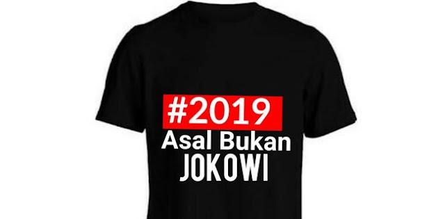 Lebih Ekstrim Lagi! Relawan Sadar Kampanyekan Gerakan Asal Bukan Jokowi