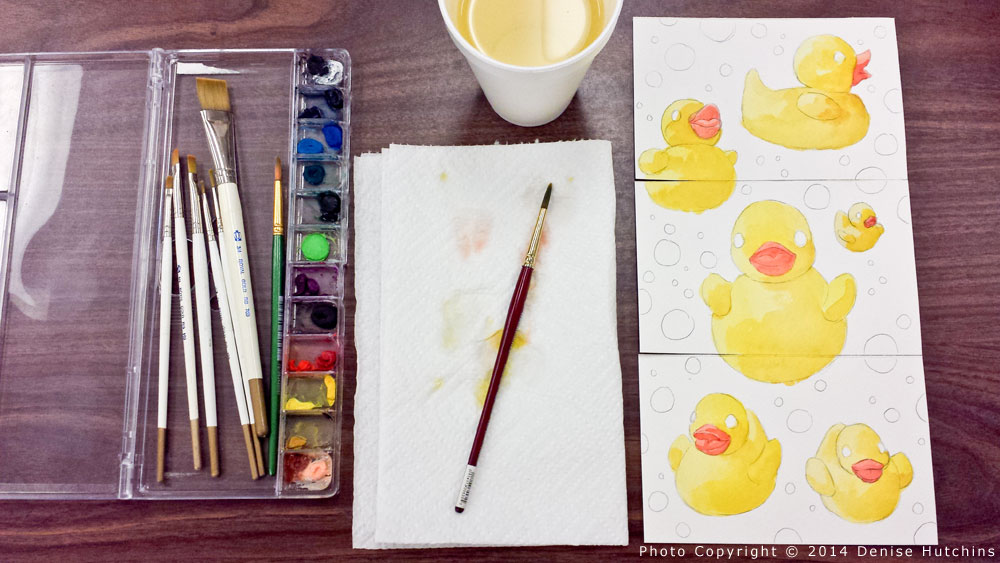 Rubber Ducky Painting, Ducks Painted, Paints Pictured